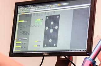desktop with programmed content