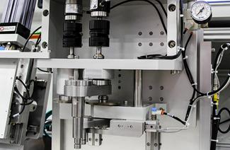 test machines in laboratory