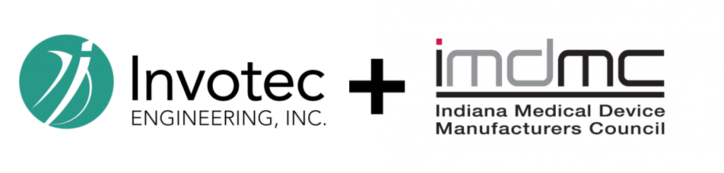 invotec logo, IMDMC logo, medical device association
