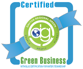 DRG certified green business logo