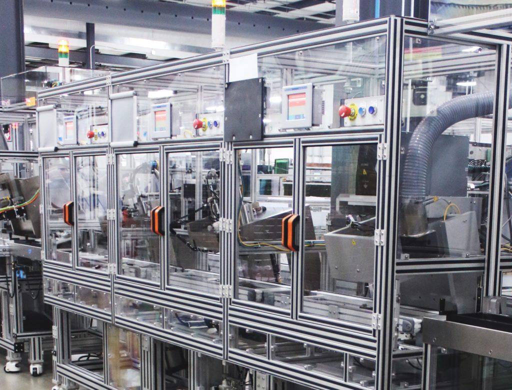 semi-automated equipment line